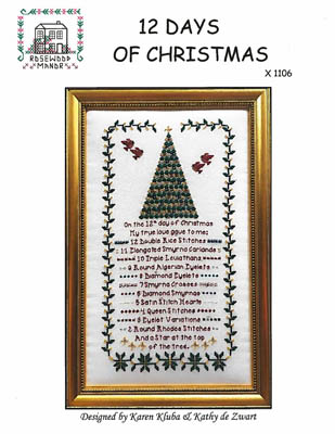 click here to view larger image of 12 Days of Christmas (chart (special))