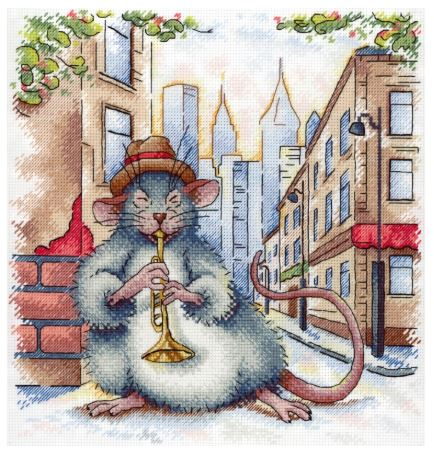 click here to view larger image of Street Jazz (counted cross stitch kit)