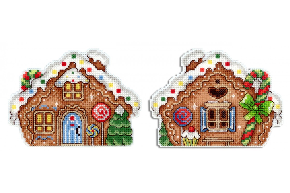 click here to view larger image of Gingerbread House (counted cross stitch kit)