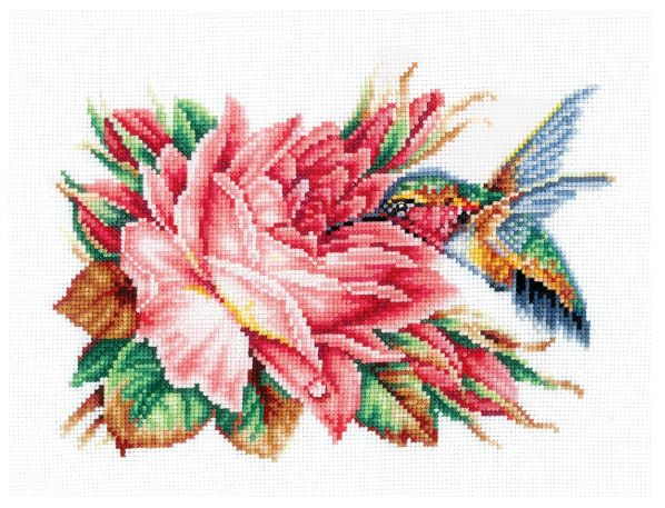click here to view larger image of Hummingbird and Rose (counted cross stitch kit)