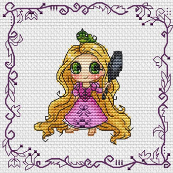 click here to view larger image of Baby Princess Rapunzel (chart)