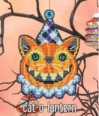 click here to view larger image of Cat-o-Lantern Ornament Kit (counted cross stitch kit)