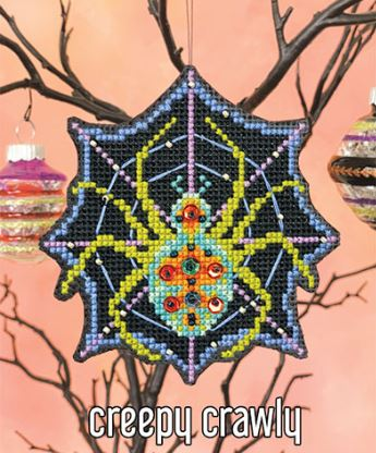 click here to view larger image of Creepy Crawly Ornament Kit (counted cross stitch kit)