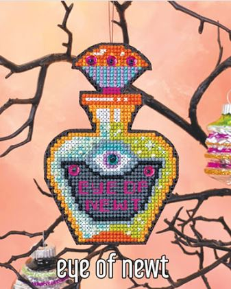 click here to view larger image of Eye of Newt Ornament Kit (counted cross stitch kit)