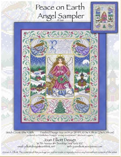 click here to view larger image of Peace on Earth Angel Sampler (chart)