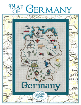 click here to view larger image of Map of Germany (chart)