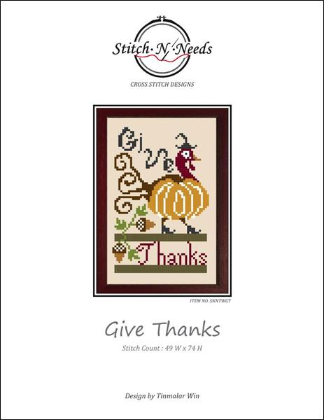 click here to view larger image of Give Thanks (chart)