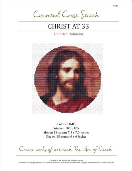 click here to view larger image of Christ at 33 (Circular Chart) (chart)