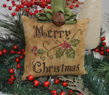 click here to view larger image of Primitive Merry Christmas Pillow (chart)