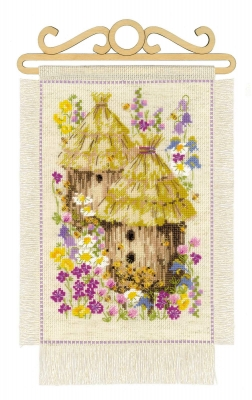 click here to view larger image of Cottage Garden - Summer (counted cross stitch kit)