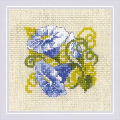 click here to view larger image of Purple Bindweed (counted cross stitch kit)