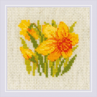 click here to view larger image of Yellow Narcissus (counted cross stitch kit)