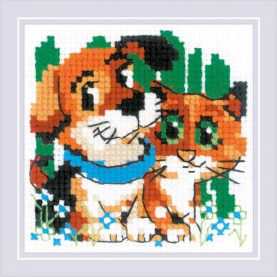 click here to view larger image of Stick With Me (counted cross stitch kit)