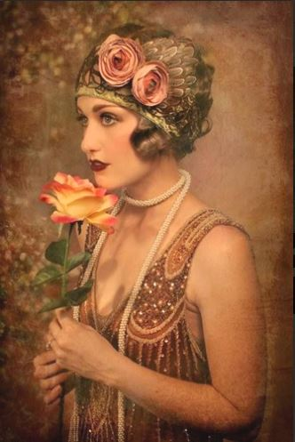 click here to view larger image of Glamour Girl with Roses (chart)