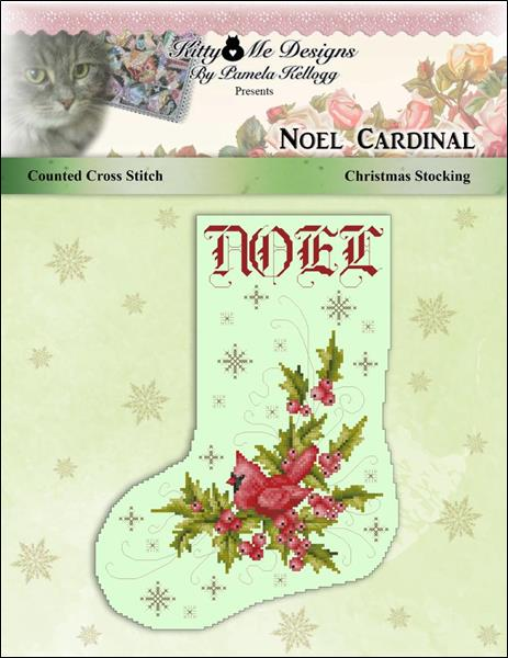 click here to view larger image of Noel Cardinal Stocking (chart)