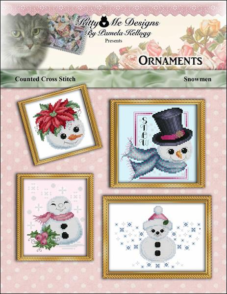 click here to view larger image of Snowman Ornaments (chart)