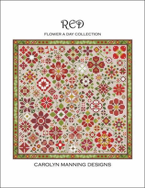 click here to view larger image of Flower A Day Collection - Red (chart)