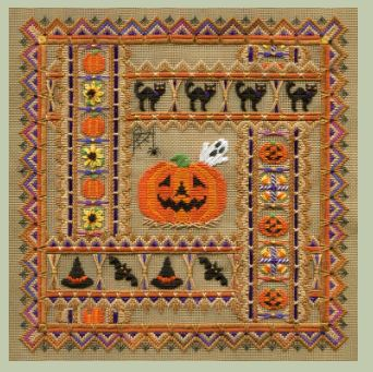 click here to view larger image of Spooky Halloween Square (counted canvas chart)