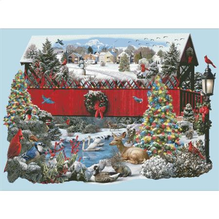 click here to view larger image of Christmas Covered Bridge (chart)