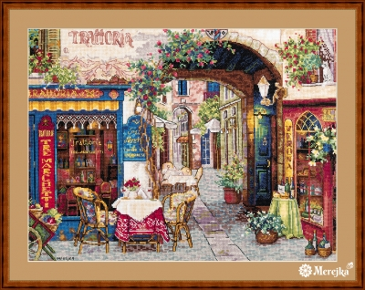 click here to view larger image of Cafe In Verona (counted cross stitch kit)