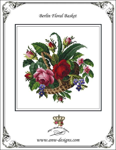click here to view larger image of Berlin Floral Basket (chart)