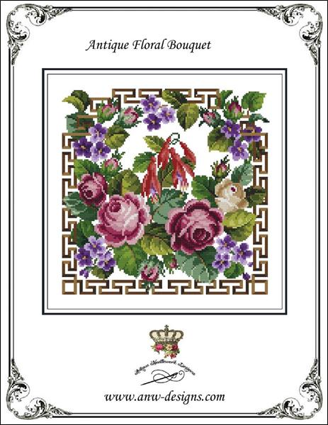 click here to view larger image of Antique Floral Bouquet (chart)