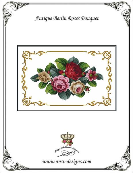 click here to view larger image of Antique Berlin Roses Bouquet (chart)