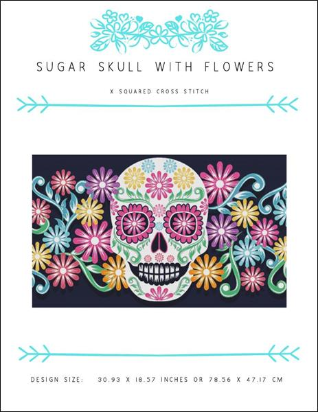 click here to view larger image of Sugar Skull with Flowers (chart)