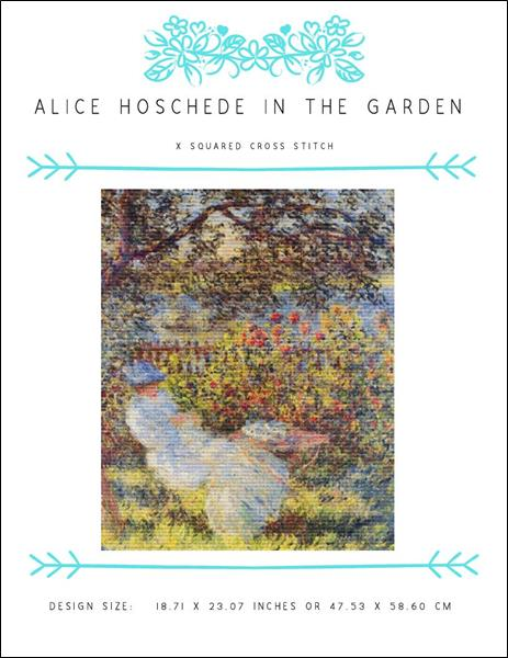 click here to view larger image of Alice Hoschede in the Garden (chart)