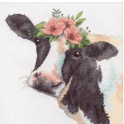 click here to view larger image of Sweet Cow (counted cross stitch kit)