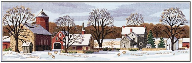 click here to view larger image of Scenic Farm (counted cross stitch kit)