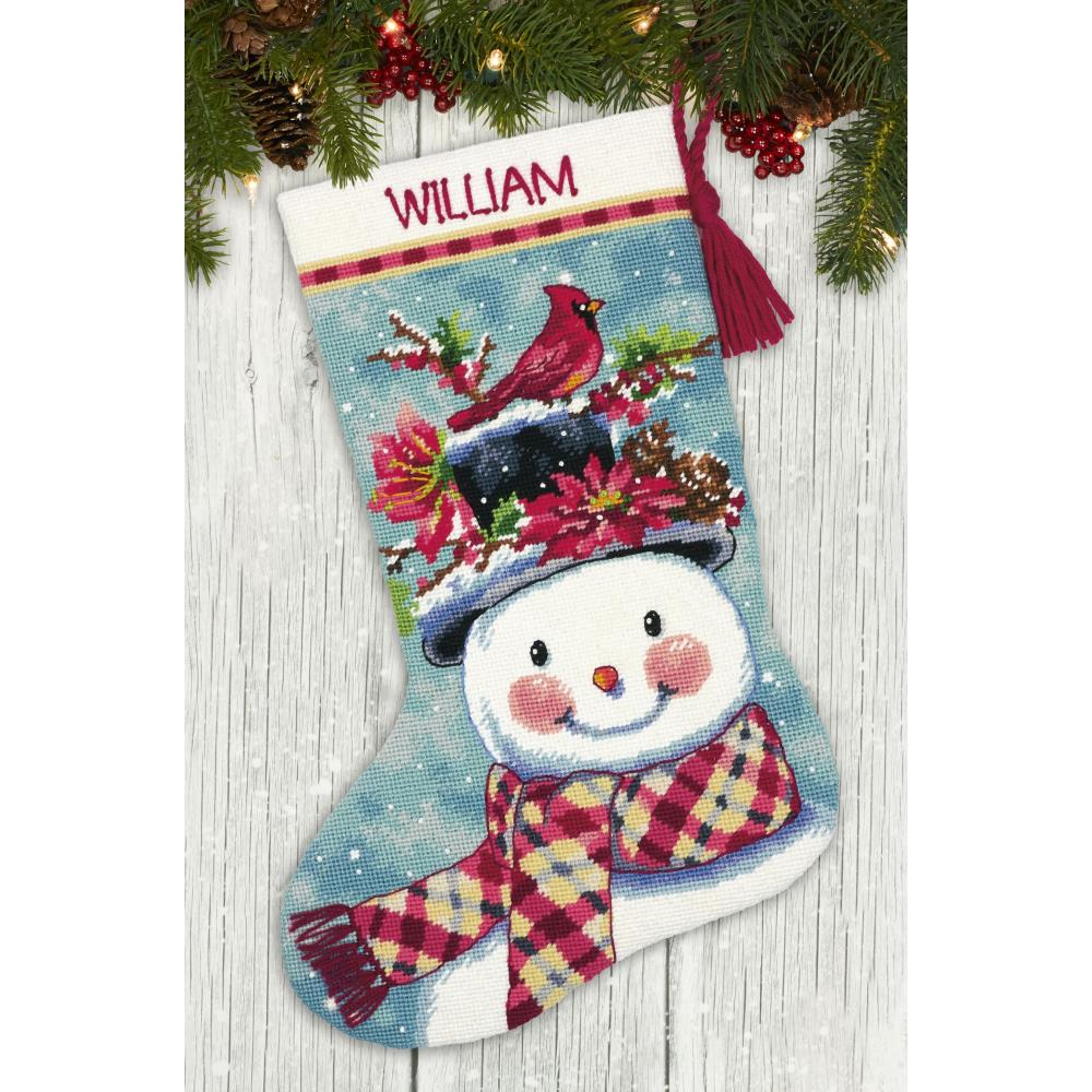 click here to view larger image of Seasonal Snowman (needlepoint)