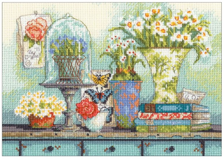 click here to view larger image of Garden Collectibles (counted cross stitch kit)