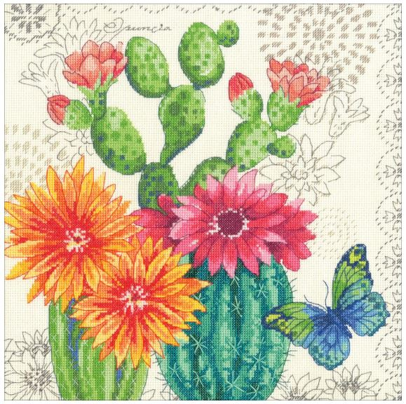 click here to view larger image of Cactus Bloom (counted cross stitch kit)