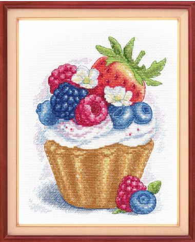 click here to view larger image of Berry Dessert (counted cross stitch kit)