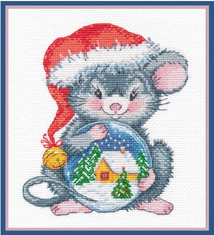 click here to view larger image of Mouse with Ball (counted cross stitch kit)