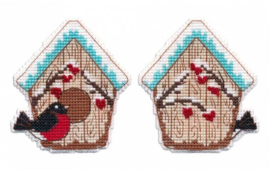 click here to view larger image of Christmas Toy - Birdhouse (counted cross stitch kit)