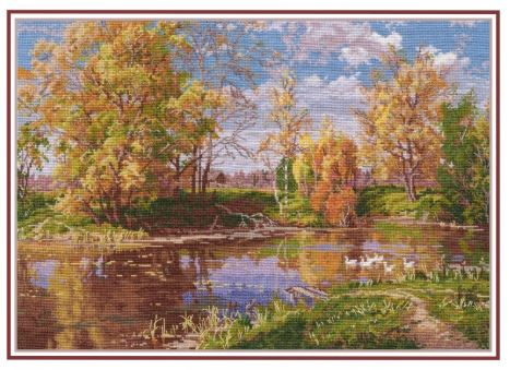 click here to view larger image of Autumn Pond (counted cross stitch kit)