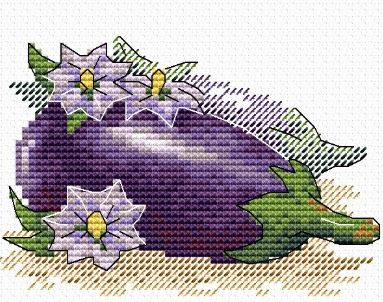 click here to view larger image of Eggplant (counted cross stitch kit)