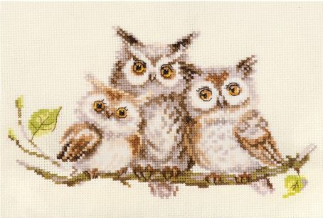 click here to view larger image of Owls (counted cross stitch kit)