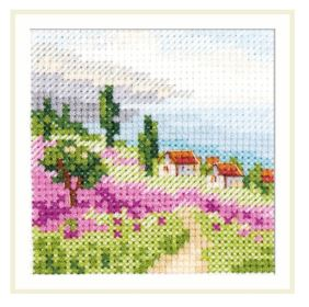 click here to view larger image of Lavender at the Sea (counted cross stitch kit)