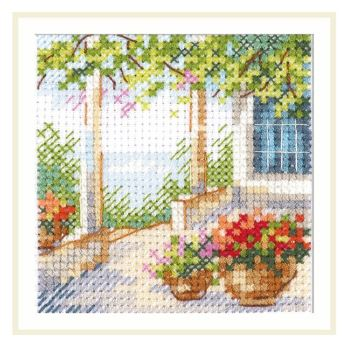 click here to view larger image of Flower Patio (counted cross stitch kit)