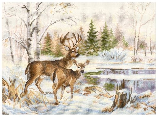 click here to view larger image of At the Forest (counted cross stitch kit)
