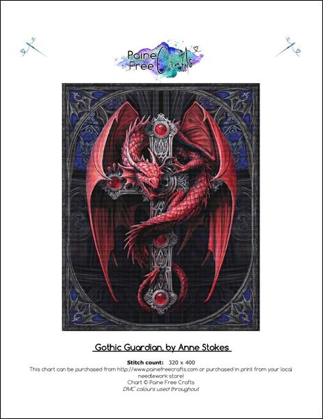 click here to view larger image of Gothic Guardian (chart)
