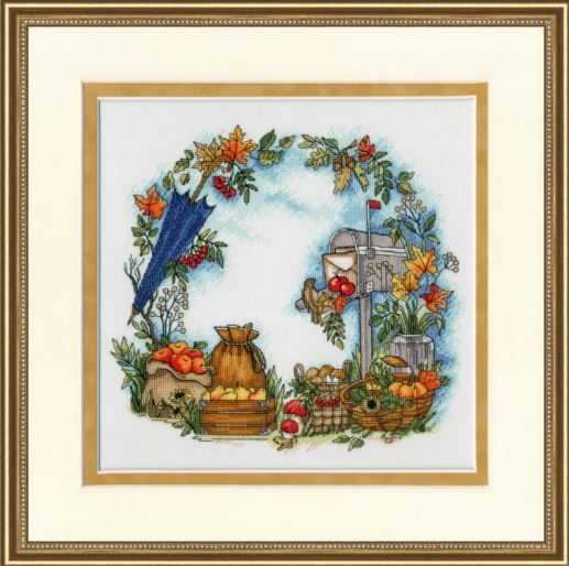 click here to view larger image of Autumn Letters (counted cross stitch kit)