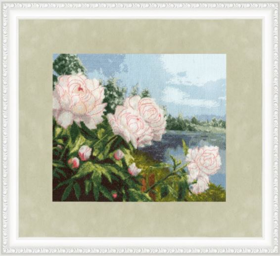 click here to view larger image of Blooming Peonies (counted cross stitch kit)