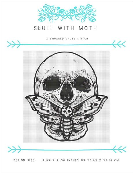click here to view larger image of Skull with Moth (chart)