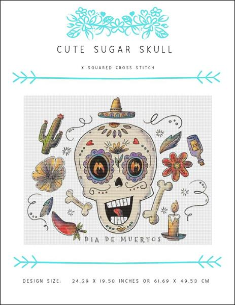click here to view larger image of Cute Sugar Skull  (chart)