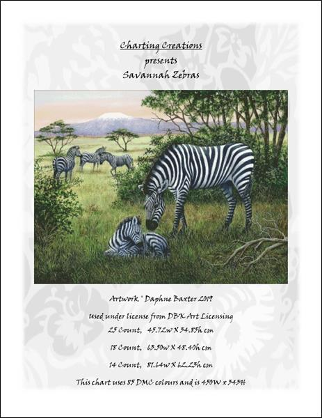 click here to view larger image of Savannah Zebras (chart)