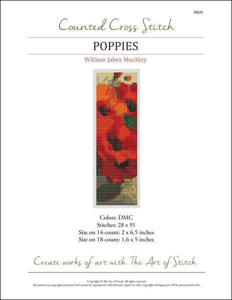 click here to view larger image of Poppies - Bookmark (chart)